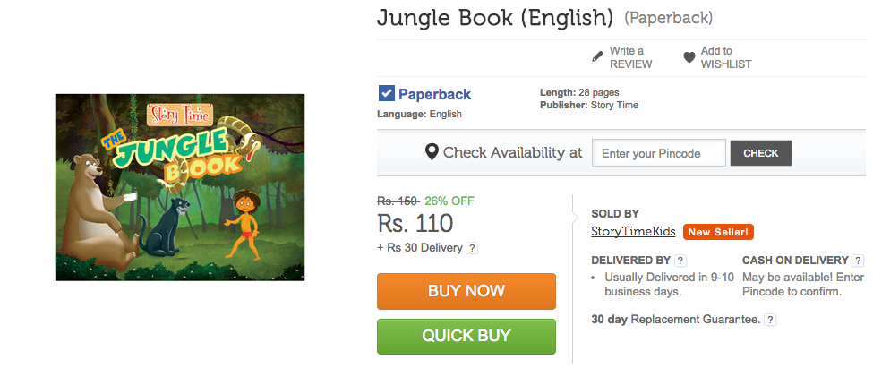 The Jungle Book on Flipkart