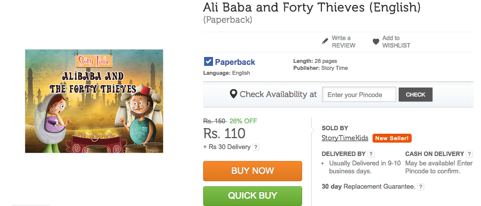 Alibaba and the Forty Thieves on Flipkart