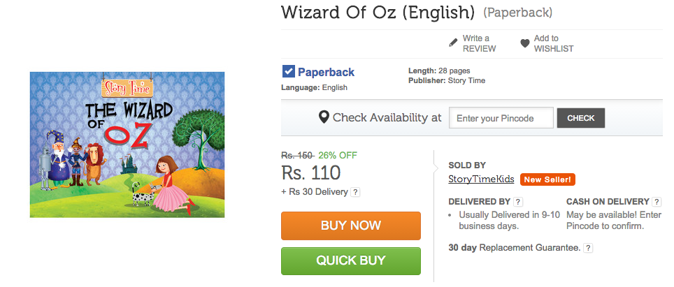 The Wizard Of Oz on Flipkart