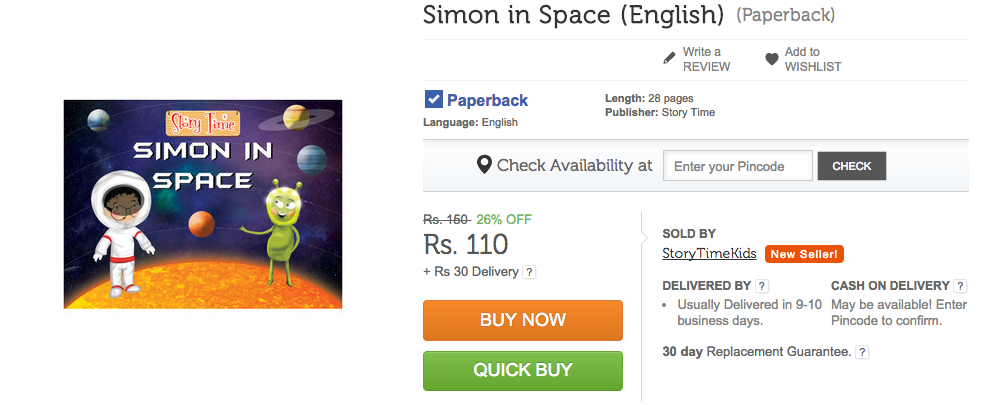 Simon In Space on Flipkart